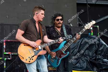 Jay Emmons, Chris Huot. Jay Emmons, left, and Chris Huot of The Glorious Sons performs at the Sonic Temple Art and Music Festival at Mapfre Stadium, in Columbus, Ohio