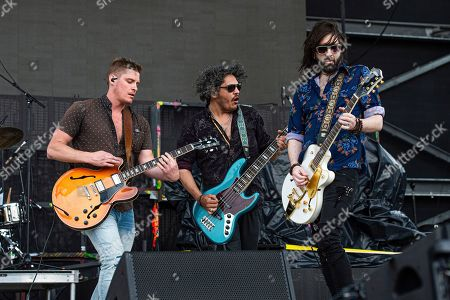 Stock Photo of Jay Emmons, Chris Huot, Chris Koster. Jay Emmons, from left, Chris Huot, and Chris Koster of The Glorious Sons performs at the Sonic Temple Art and Music Festival at Mapfre Stadium, in Columbus, Ohio