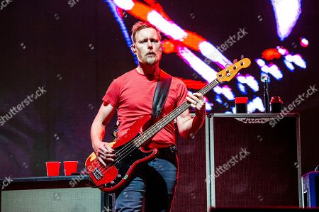 Stock Picture of Nate Mendel of the Foo Fighters performs at the Sonic Temple Art and Music Festival at Mapfre Stadium, in Columbus, Ohio