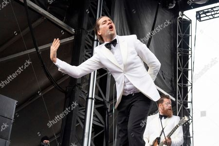 Pelle Almqvist of The Hives performs at the Sonic Temple Art and Music Festival at Mapfre Stadium, in Columbus, Ohio
