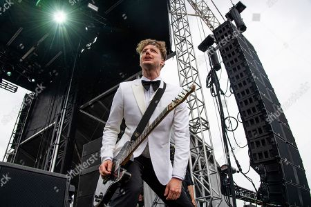 Niklas Almqvist of The Hives performs at the Sonic Temple Art and Music Festival at Mapfre Stadium, in Columbus, Ohio