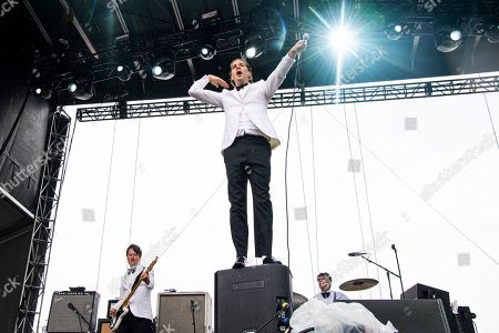 Stock Picture of Pelle Almqvist of The Hives performs at the Sonic Temple Art and Music Festival at Mapfre Stadium, in Columbus, Ohio