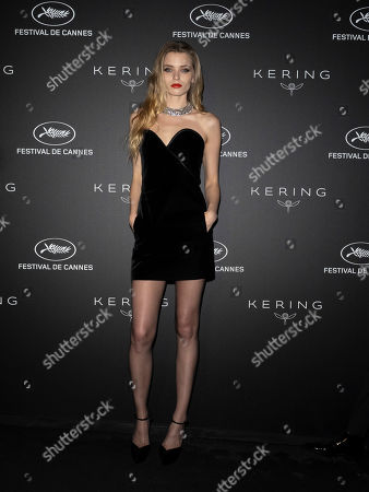 Abbey Lee Kershaw poses during the Kering Women in Motion Awards at the 72nd annual Cannes Film Festival, in Cannes, France, 19 May 2019. The festival runs from 14 to 25 May.