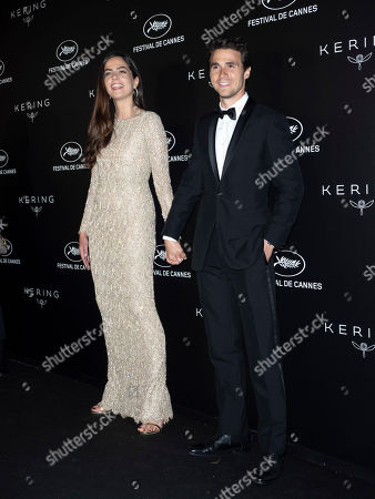 Anouchka Delon and Julien Dereims pose during the Kering Women in Motion Awards at the 72nd annual Cannes Film Festival, in Cannes, France, 19 May 2019. The festival runs from 14 to 25 May.