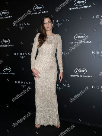 Anouchka Delon poses during the Kering Women in Motion Awards at the 72nd annual Cannes Film Festival, in Cannes, France, 19 May 2019. The festival runs from 14 to 25 May.