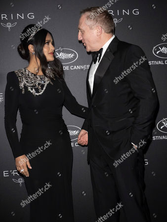 Salma Hayek and Francois Pinault pose during the Kering Women in Motion Awards at the 72nd annual Cannes Film Festival, in Cannes, France, 19 May 2019. The festival runs from 14 to 25 May.
