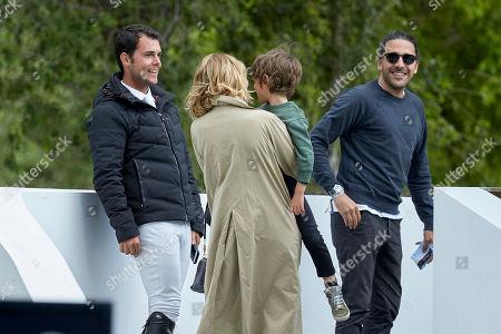 Marta Ortega, Carlos Torretta, Sergio Alvarez Moya and son Amancio