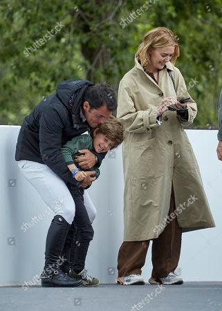 Marta Ortega, Sergio Alvarez Moya and son Amancio