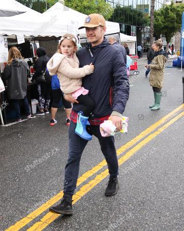 Stock Picture of Hayden Christensen and daughter Briar Rose Christensen