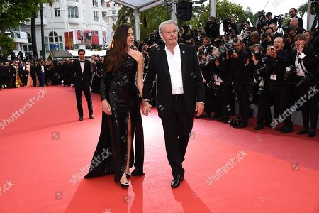 Alain Delon and Anouchka Delon