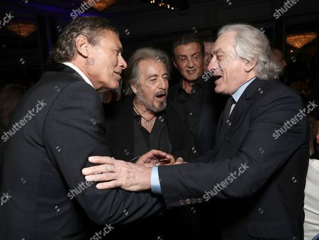 Steven Bauer, Al Pacino, Sylvester Stallone and Robert De Niro