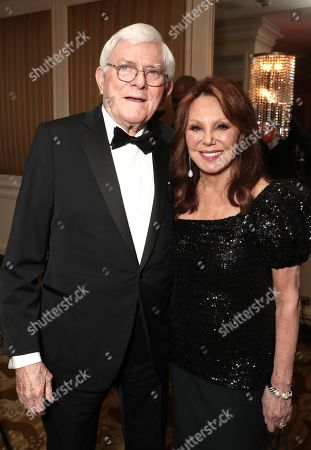 Stock Picture of Phil Donahue and Marlo Thomas