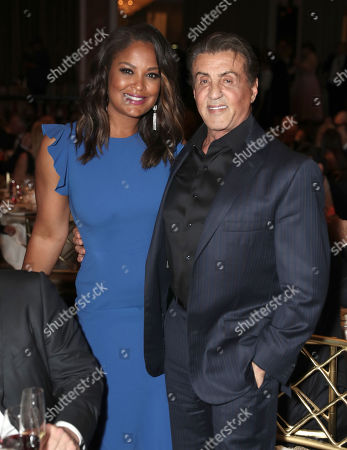 Laila Ali and Sylvester Stallone