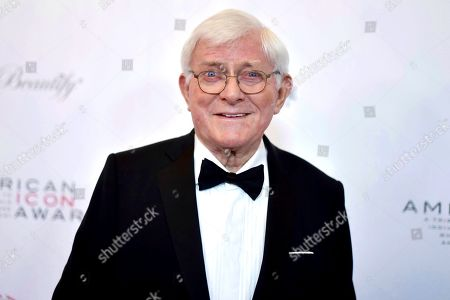 Phil Donahue attends the 2019 American Icon Awards at the Beverly Wilshire Hotel, in Beverly Hills, Calif