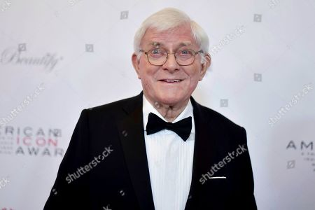 Stock Image of Phil Donahue attends the 2019 American Icon Awards at the Beverly Wilshire Hotel, in Beverly Hills, Calif