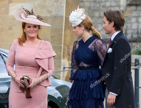 Sarah Ferguson Duchess of York Princess Beatrice and Edoardo Mapelli Mozzi