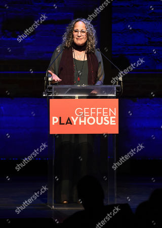 Gina Belafonte attends the Backstage at the Geffen 2019 gala at the Geffen Playhouse on in Westwood, Calif