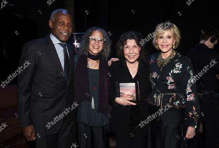 Danny Glover, Gina Belafonte, Lily Tomlin, Jane Fonda. Danny Glover, Gina Belafonte, Lily Tomlin and Jane Fonda attend the Backstage at the Geffen 2019 gala at the Geffen Playhouse on in Westwood, Calif
