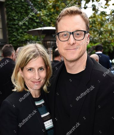 Stock Picture of Charissa Barton, Alan Tudyk. Charissa Barton and Alan Tudyk attend the Backstage at the Geffen 2019 gala at the Geffen Playhouse on in Westwood, Calif
