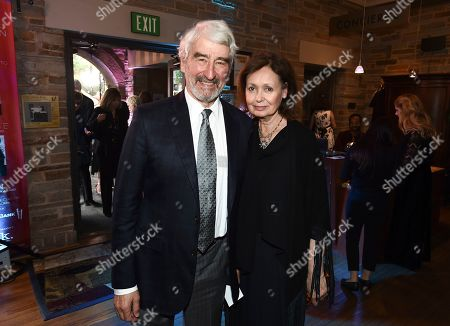 Stock Picture of Sam Waterston, Lynn Louisa Woodruff. Sam Waterston and Lynn Louisa Woodruff attend the Backstage at the Geffen 2019 gala at the Geffen Playhouse on in Westwood, Calif