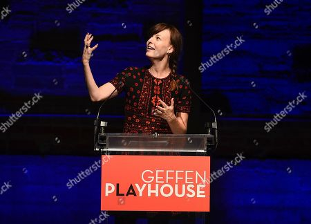 Rosemarie DeWitt attends the Backstage at the Geffen 2019 gala at the Geffen Playhouse on in Westwood, Calif