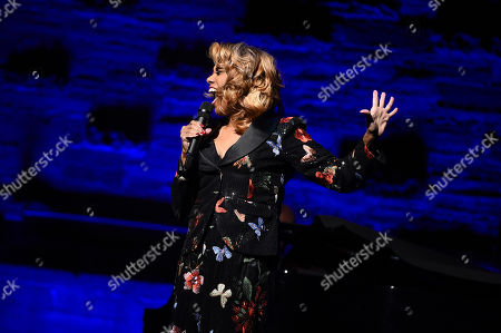 Stock Picture of Jennifer Holliday performs at the Backstage at the Geffen 2019 gala at the Geffen Playhouse on in Westwood, Calif