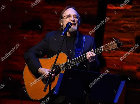 Stephen Stills performs at the Backstage at the Geffen 2019 gala at the Geffen Playhouse on in Westwood, Calif