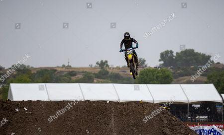 Rancho Cordova, CA U.S.A. : # 26 Alex Martin gets big air in section 37 during the Lucas Oil Pro Motocross 250 Championship at Hangtown Motocross Classic Rancho Cordova, CA Thurman James / CSM