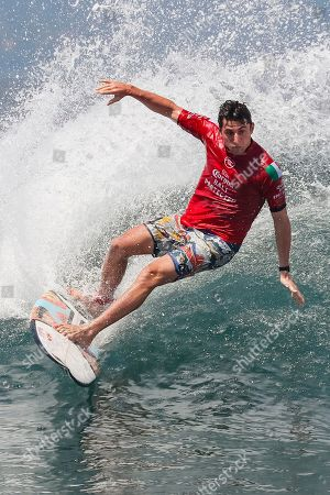 Leonardo Fioravanti of Italy in action during the Round of 16 at the Corona Bali Protected Surfing event as part of the 2019 World Surf League in Keramas, Bali, Indonesia, 20 May 2019.