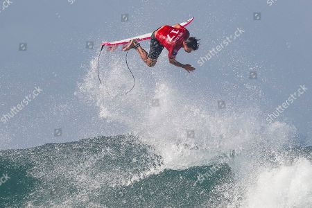 Stock Photo of Australian Julian Wilson in action during the Round of 32 at the Corona Bali Protected Surfing event as part of the 2019 World Surf League in Keramas, Bali, Indonesia, 20 May 2019.
