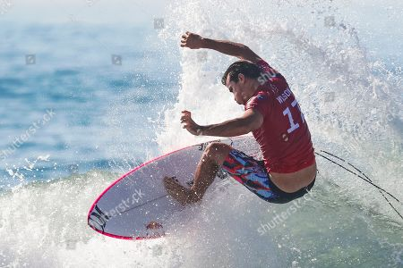 Stock Picture of Australian Julian Wilson in action during the Round of 32 at the Corona Bali Protected Surfing event as part of the 2019 World Surf League in Keramas, Bali, Indonesia, 20 May 2019.