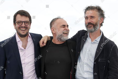 Brazilian producer Rodrigo Teixeira, Brazilian director Karim Ainouz and German producer Michael Weber pose during the photocall for 'A Vida Invisivel de Euridice Gusmao' (The invisible life of Euridice Gusmao) at the 72nd annual Cannes Film Festival, in Cannes, France, 20 May 2019. The movie is presented in the section Un Certain Regard of the festival which runs from 14 to 25 May.