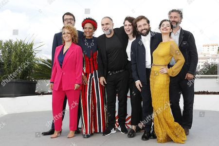 Brazilian producer Rodrigo Teixeira, Brazilian actress Flavia Gusmao, Brazilian actress Barbara Santos, Brazilian director Karim Ainouz, Brazilian actor Gregorio Duvivier, Brazilian actress Julia Stockler and German producer Michael Weber pose during the photocall for 'A Vida Invisivel de Euridice Gusmao' (The invisible life of Euridice Gusmao) at the 72nd annual Cannes Film Festival, in Cannes, France, 20 May 2019. The movie is presented in the section Un Certain Regard of the festival which runs from 14 to 25 May.