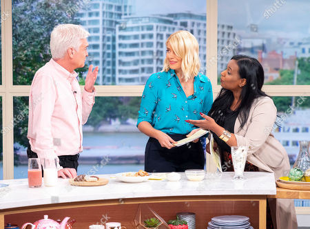 Stock Image of Phillip Schofield and Holly Willoughby with Hala El-Shafie