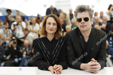 Camille Cottin (L) and French singer Benjamin Biolay (R) pose during the photocall for 'Chambre 212' (On a magical night) at the 72nd annual Cannes Film Festival, in Cannes, France, 20 May 2019. The movie is presented in the section Un Certain Regard of the festival which runs from 14 to 25 May.