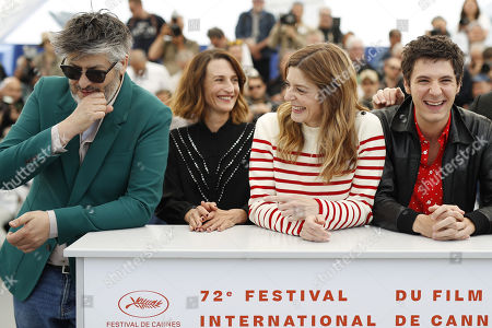 Christophe Honore, French actress Camille Cottin, French actress Chiara Mastroianni and French actor Vincent Lacoste pose during the photocall for 'Chambre 212' (On a magical night) at the 72nd annual Cannes Film Festival, in Cannes, France, 20 May 2019. The movie is presented in the section Un Certain Regard of the festival which runs from 14 to 25 May.