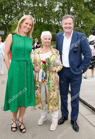 Sophie Raworth, Judi Dench and Piers Morgan