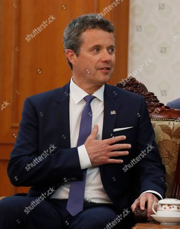 Crown Prince Frederik of Denmark talks with South Korean Prime Minister Lee Nak-yeon (not pictured) during their meeting at the government office in Seoul, South Korea, 20 May 2019. Crown Prince Frederik and his wife Crown Princess Mary arrived in South Korea on a three-day visit to celebrate 60 years of diplomatic relations between the two countries.