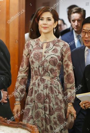 Crown Princess Mary and Crown Prince Frederik of Denmark (not pictured) arrive for meeting with South Korean Prime Minister Lee Nak-yeon (not pictured) at the government office in Seoul, South Korea, 20 May 2019. Crown Prince Frederik and his wife Crown Princess Mary arrived in South Korea on a three-day visit to celebrate 60 years of diplomatic relations between the two countries.