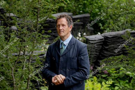 Monty Don, the lead presenter of British television show Gardeners' World waits to broadcast at the RHS (Royal Horticultural Society) Chelsea Flower Show in London, . World-renowned and quintessentially British, the annual show is a celebration of horticultural excellence and innovation
