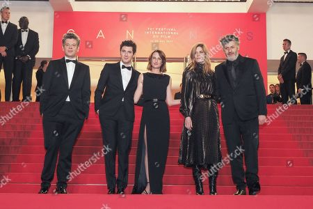 Thierry Fremaux, Benjamin Biolay, Vincent Lacoste, Camille Cottin, Chiara Mastroianni and Christophe Honore