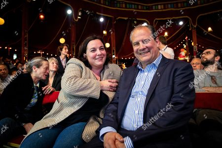 Stock Picture of Emmanuelle Cosse and Jean-Christophe Cambadelis