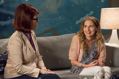 Stock Picture of Kate Flannery as Principal Saperstein and Allie Grant as Melinda Weems