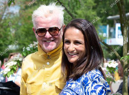 DJ and Television presenter, Chris Evans with his wife Natasha Evans