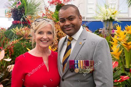 Carol Kirkwood and Johnson Beharry