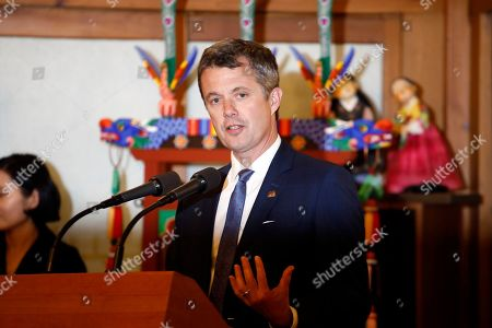 Crown Prince Frederik of Denmark attends a banquet hosted by South Korean Prime Minister Lee Nak-yeon at the prime minister's official residence in Seoul, South Korea, 20 May 2019. Crown Prince and Princess of Denmark are visiting South Korea to celebrate the 60th anniversary of the establishment of diplomatic ties between the two countries.