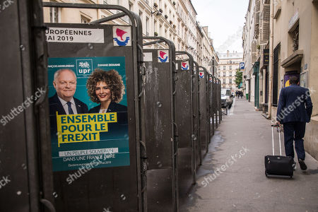 Editorial image of European elections campaign in Paris, France - 20 May 2019