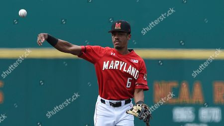 Maryland's AJ Lee during an NCAA baseball game on in Baltimore