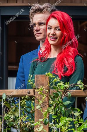 Joe Sugg and Dianne Buswell on the Blue Forest Tree House