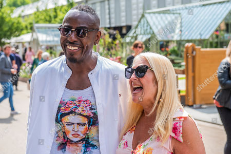 Vanessa Feltz and Ben Ofoedu - Press preview day at The RHS Chelsea Flower Show.